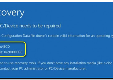 Ошибка 0x0000098 Windows 10 при загрузке системы как можно устранить?