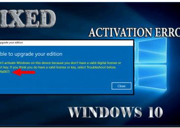 Возник код ошибки 0x803fa067 при активации Виндовс 10 что делать?