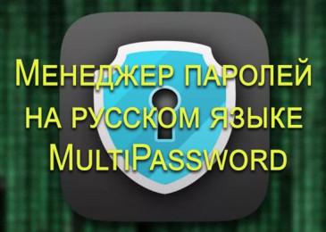Менеджер паролей на русском языке MultiPassword создан для ваших данных!