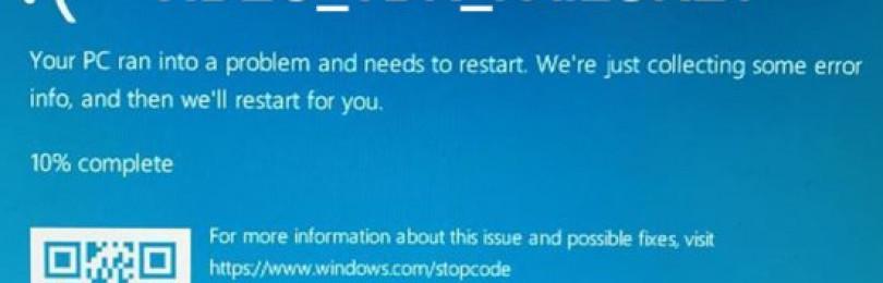 Ошибка video tdr failure windows 10 как исправить 5 методов?