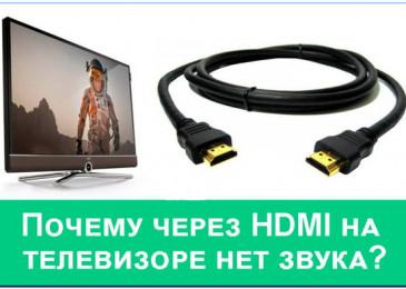 Почему через HDMI на телевизоре нет звука от компьютера или приставки?