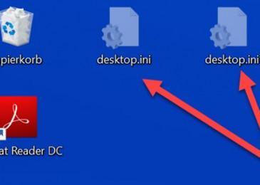 Файл desktop.ini на рабочем столе windows 10 8 7 что это и как его удалить?