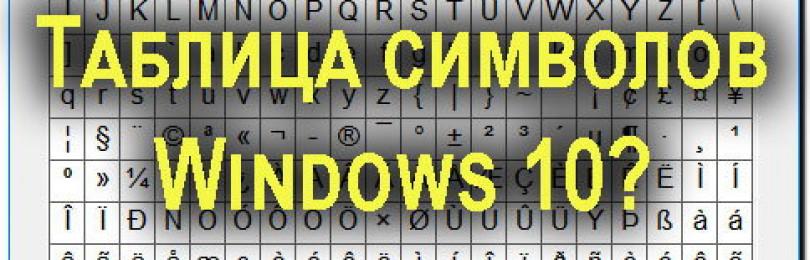 Таблица символов Windows 10 как открыть, как пользоваться 3 метода?