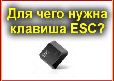 Для чего нужна клавиша ESC на клавиатуре подробный разбор