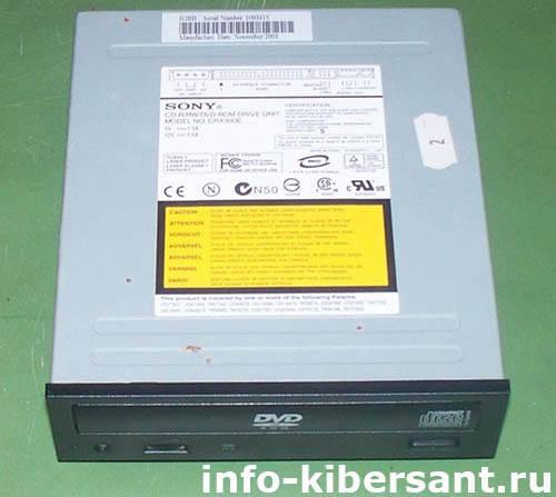основные элементы компьютера, DVD-привод