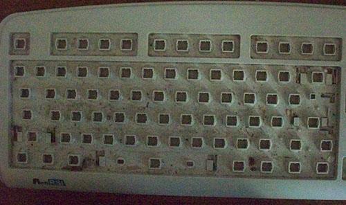 клавиатура грязная