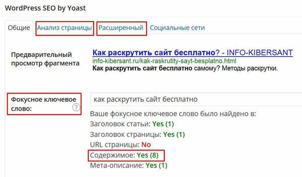 как раскрутить сайт бесплатно WordPess SEO