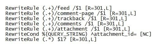 htaccess строки чтобы удалить дубли страниц