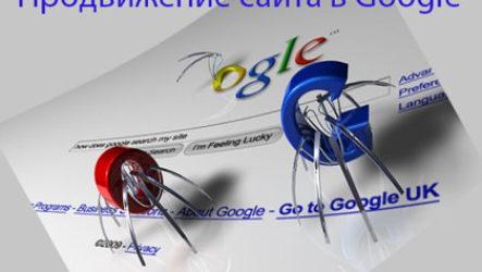 Продвижение сайта в Google основные алгоритмы