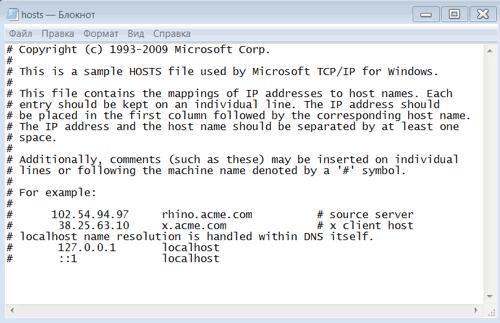 файл hosts 1