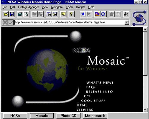 первый браузер NCSA Mosaic