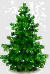 анимированная елка
