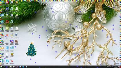 новогодняя елка на рабочий стол 1