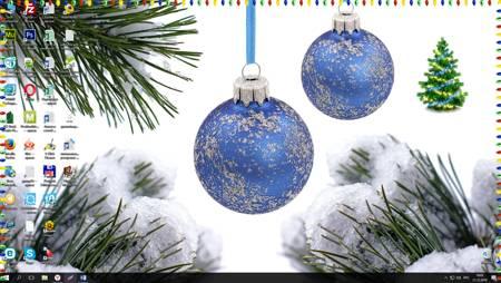 новогодняя елка на рабочий стол