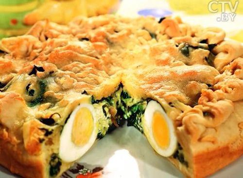пасхальный пирог с яйцами