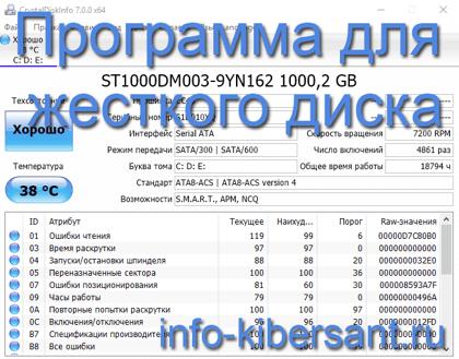 Программа для жесткого диска