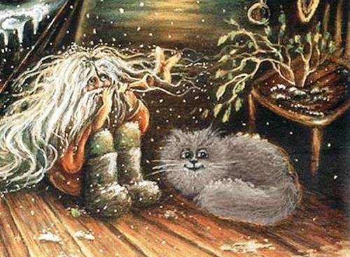 домовой и кошка