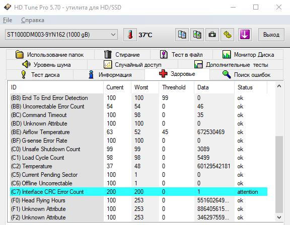 Как проверить жесткий диск на ошибки программой HD tune Pro