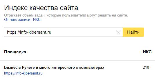 Что такое ИКС сайта и узнать ИКС сайта?
