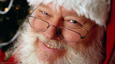 санта клаус в очках