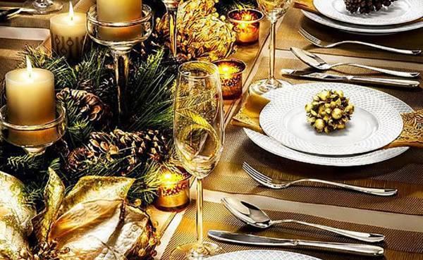 стол на новый год