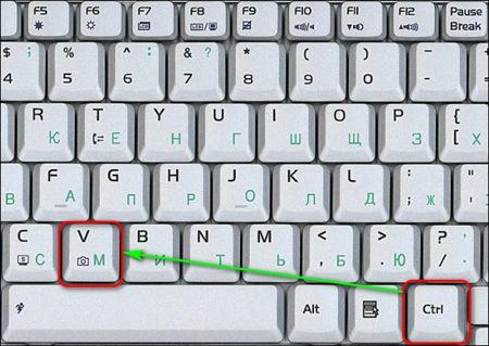 Как скопировать текст клавишами клавиатуры и вставить его в нужную часть листа