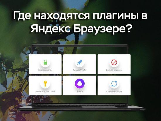 Яндекс браузер где плагины