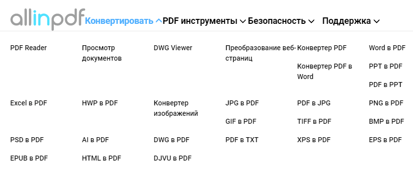PDF Reader возможности