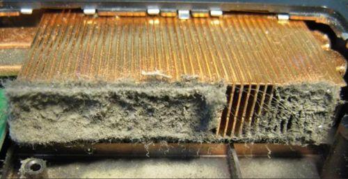 запыленный радиатор