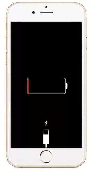 разряженный айфон