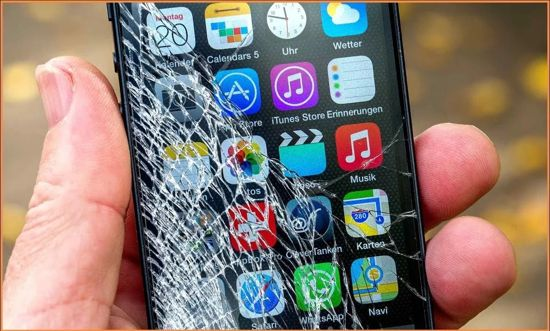 сломался экран телефона
