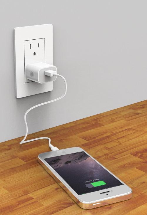телефон подключён к зарядке