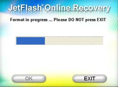 JetFlash Recovery Tool идет устранение