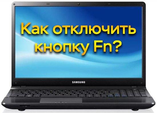 Как отключить fn на ноутбуке hp