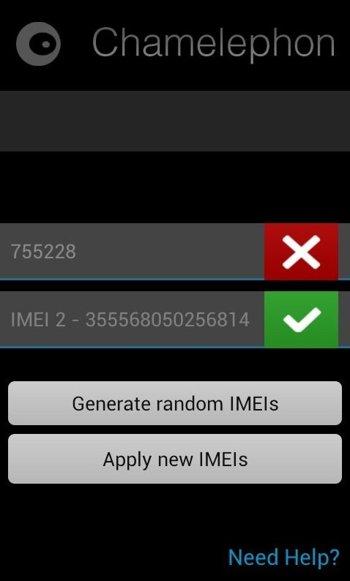 генерируем новый IMEI 1