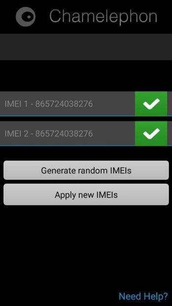 генерируем новый IMEI 2