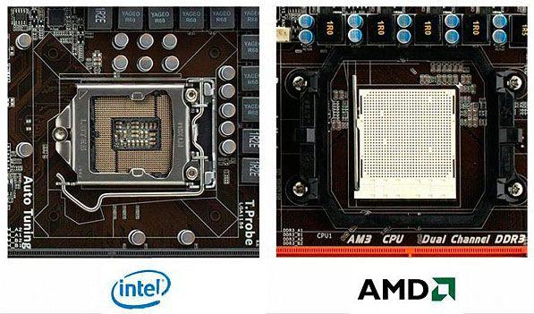 сокет интел и АМД