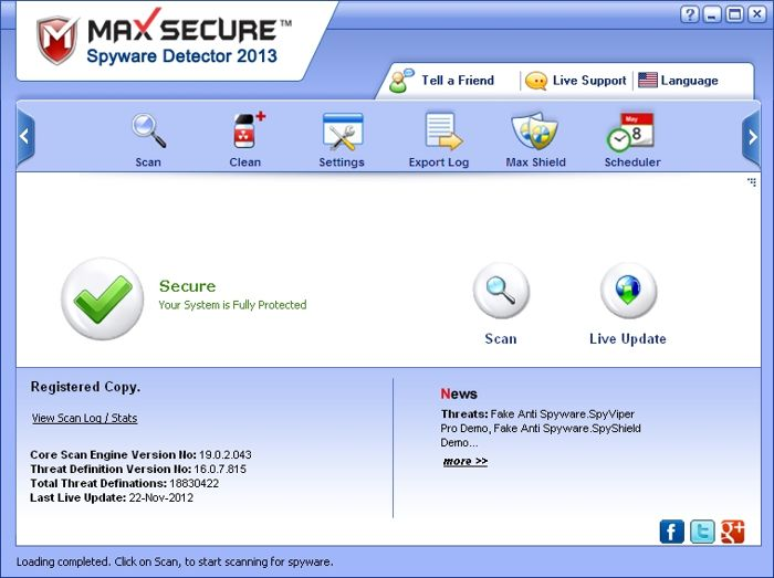 Max Secure Spyware Detector