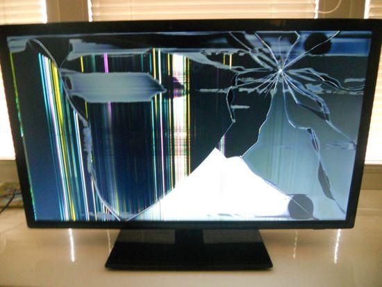 Разбился экран монитора что делать