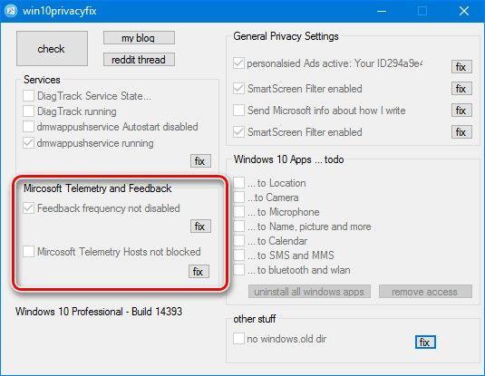 Windows 10 Privacy Fixer