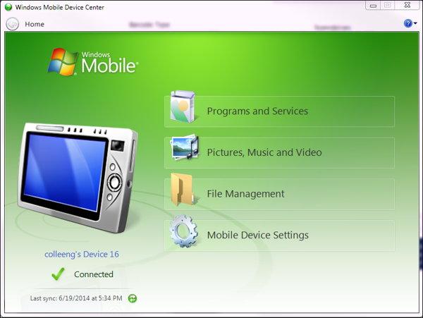 mobile device center windows 10