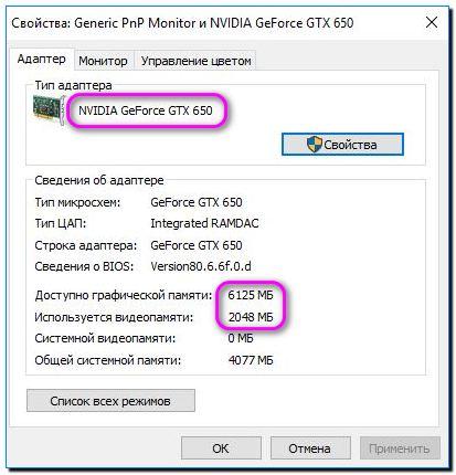 видеоадаптер Nvidia